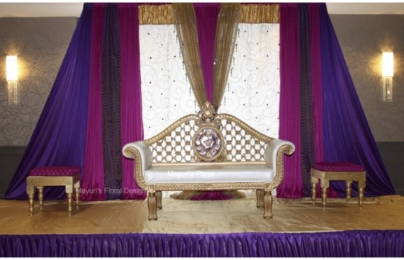 Reception Backdrop Nikkah Valima Pakistani Wedding Hilton Woodcliff Lake