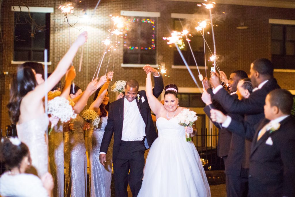 Winter Wedding Sparkle Send Off Nyack Florsit