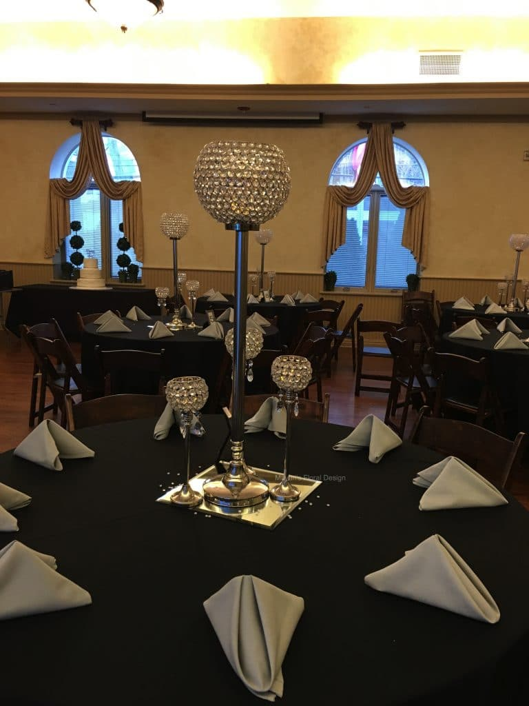 Crystal Candlelabra Rental Event Decor Planner Winter Wedding