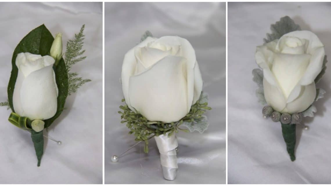 Boutonniere Roses Orchids Mini Calla Lily Wedding Florist Crosage