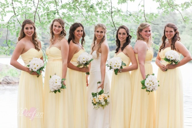 Brides Maid Dress Yellow Daisies Bouquet Thayer Hotel Wedding Florist Month Of Coordination Wedding Coordinator Hudson Valley