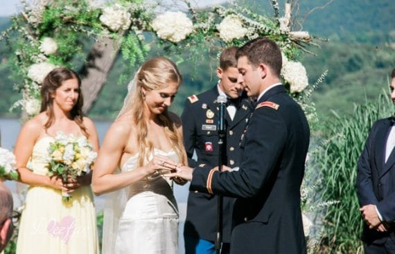 Ceremony Hudson Valley Military Wedding Destination Wedding Planner Florist July 4th