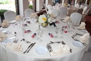 Centerpieces White Hydrangeas Yellow Roses Thayer Hotel Military Wedding Reception Hudson Valley Coordination Month of Coordination