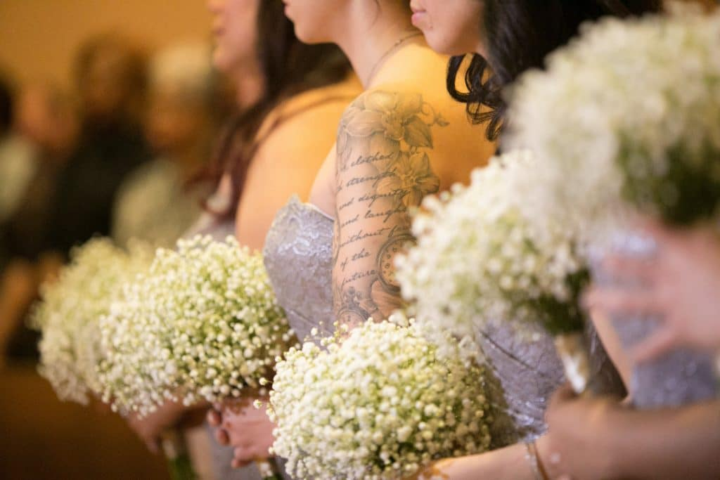 Brides Maid Babys Breath Bouquet The Time Nyack