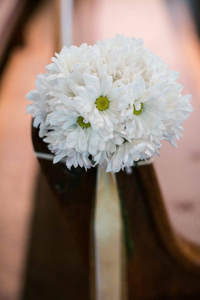 Pew Decor Daisy Satin Ribbon Wedding The Time Nyack